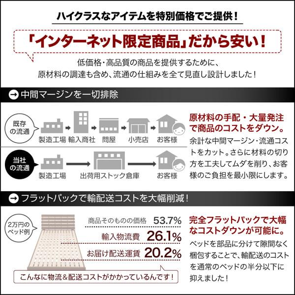 収納ベッドシングル通販『衣装ケースも入る大容量デザイン収納ベッド【SCHNEE】シュネー』