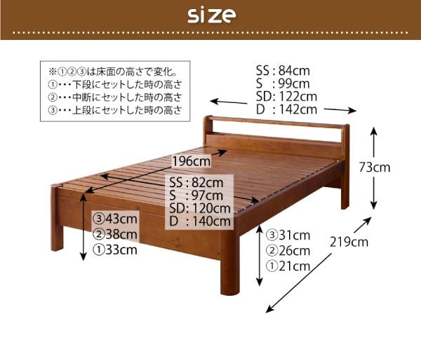 収納ベッドシングル通販『耐荷重600kg!棚・コンセントつき頑丈すのこベッド【SFORZA】スフォルツァ』