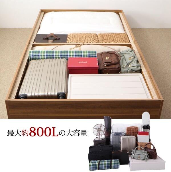 箱型ベッド『大容量収納庫付きベッド【SaiyaStorage】サイヤストレージ』