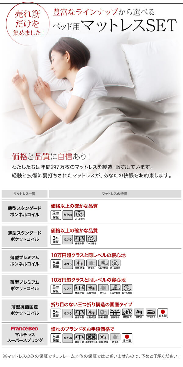 収納ベッドシングル通販『日本製_棚・コンセント付き大容量すのこチェストベッド【Salvato】サルバト』