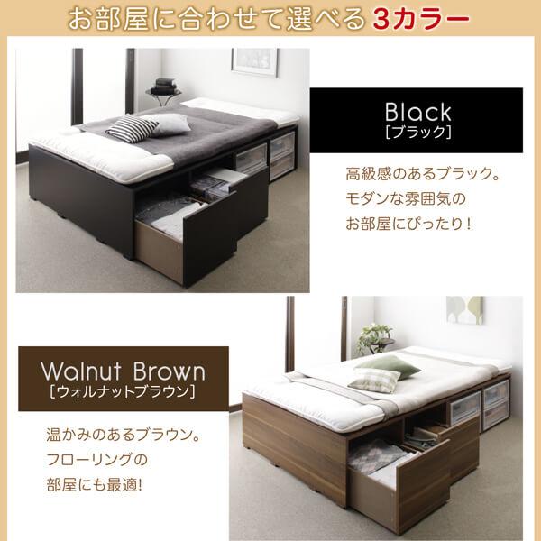 収納ベッドシングル通販『布団で寝られる大容量収納ベッド【Semper】センペール』