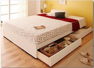 収納ベッドシングル通販 ヘッドレスト収納ベッド『シンプル収納ベッド【Slimo】スリモ』
