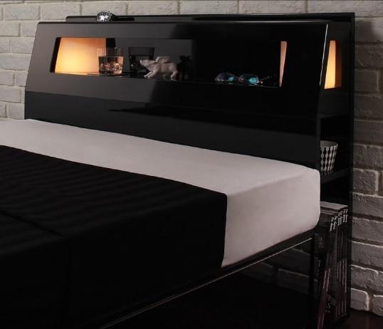 収納ベッドシングル通販 モダンライト収納ベッド