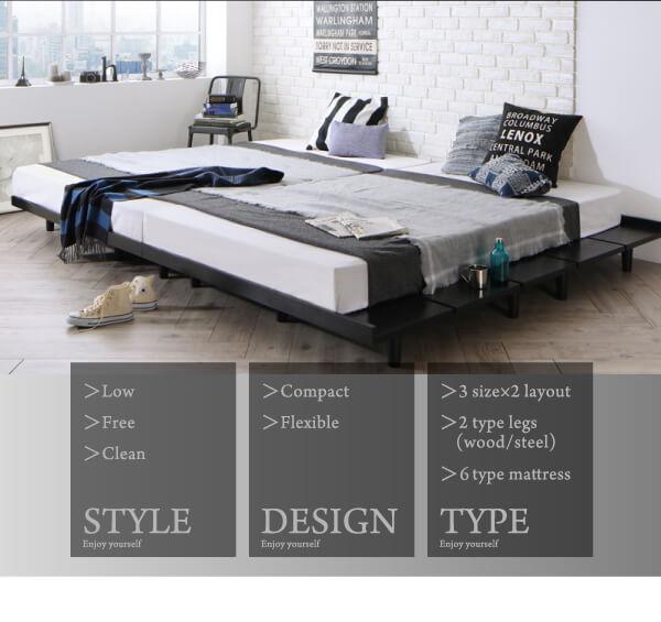 低いベッド通販『デザインボードベッド【Stone hold】ストーンホルド』