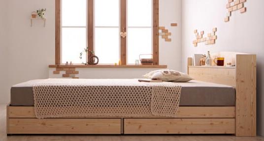収納ベッドシングル通販 木目が優しい姫系のかわいい収納ベッドが多い