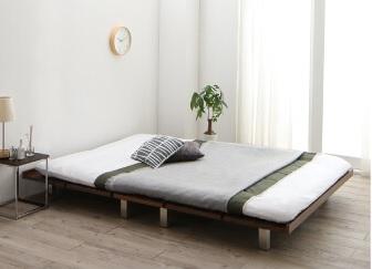 ヘッドレスのローベッド『頑丈デザインすのこベッド【T-BOARD】ティーボード』