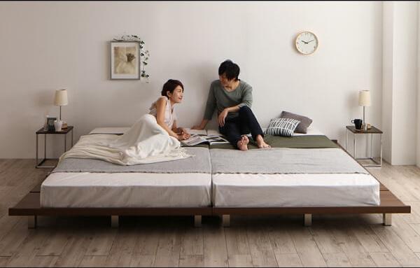 大きなロータイプのすのこベッド『頑丈デザインすのこベッド【T-BOARD】ティーボード』