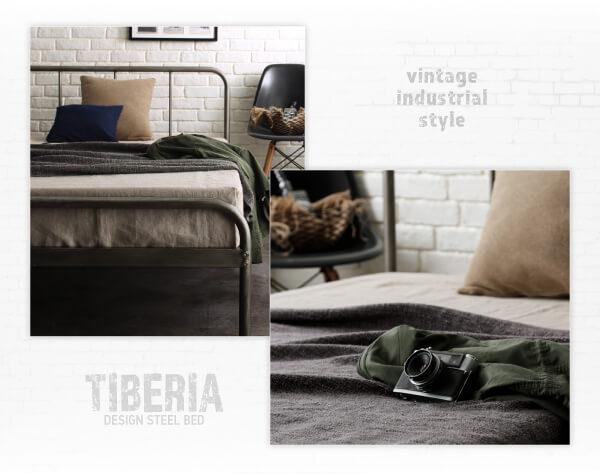 荒々しく決める男前ベッド『デザインスチールベッド【Tiberia】ティベリア』
