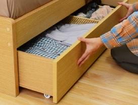 『収納ベッド シングル』引出し収納ベッド