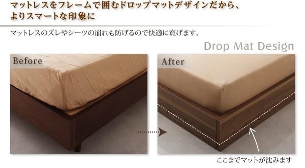 『ドロップマットタイプ』の低いベッドの詳細