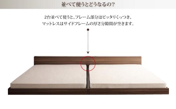 低いベッドシングル通販『スリムヘッドボードフロアベッド【Une freise】ユヌフレーズ』