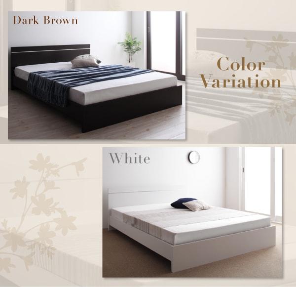 低いベッド通販『ずっと使えるロングライフデザインベッド【Vermogen】フェアメーゲン』
