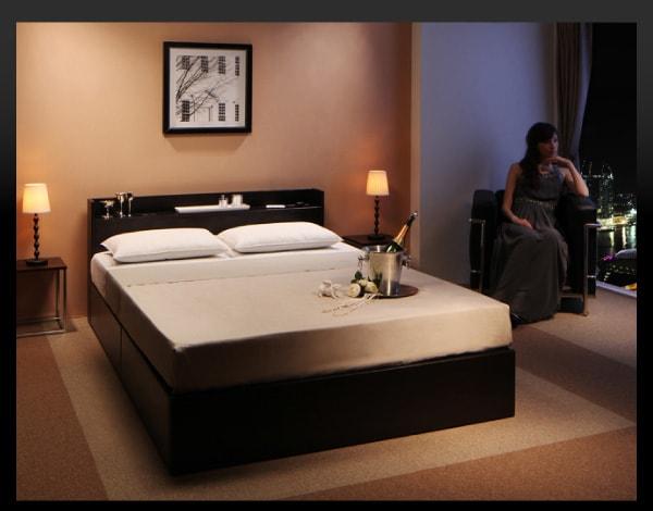 収納ベッドシングル通販 高級感ただよう収納ベッド『高級シンプルデザインベッド 【Victorl】ヴィクトール』