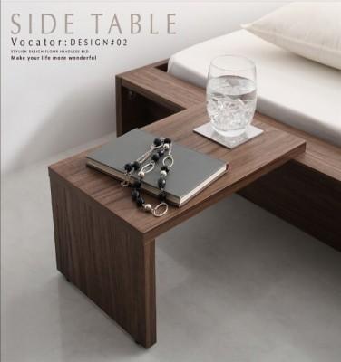 低いベッド通販 サイドテーブル付きの低いベッド