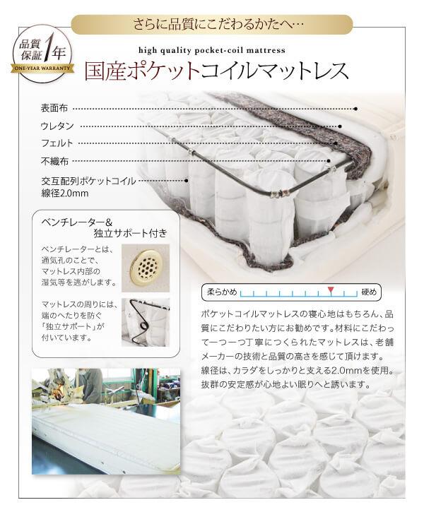 収納ベッド シングル通販ショップ『モダンライト・コンセント付き収納ベッド【W.linea】ダブルリネア』