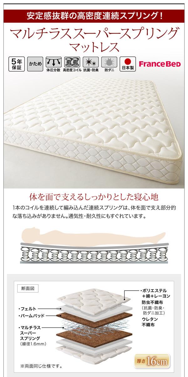 シンプルベッドフレーム通販『棚・コンセント付きモダンデザインすのこベッド【Wurde-R】ヴルデアール』