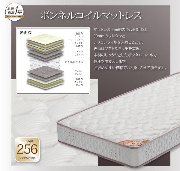低いベッド通販『家族で一緒に過ごす・LEDライト付き高級ローベッド【Yugusta】ユーガスタ』