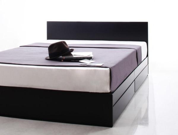 フラットパネルのフロアタイプのベッド『シンプルモダンデザイン・収納ベッド 【ZWART】ゼワート』