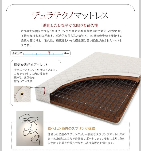 収納ベッドシングル通販ショップ『ガス圧式跳ね上げ 鏡面仕上げ収納ベッド 【Zenit』