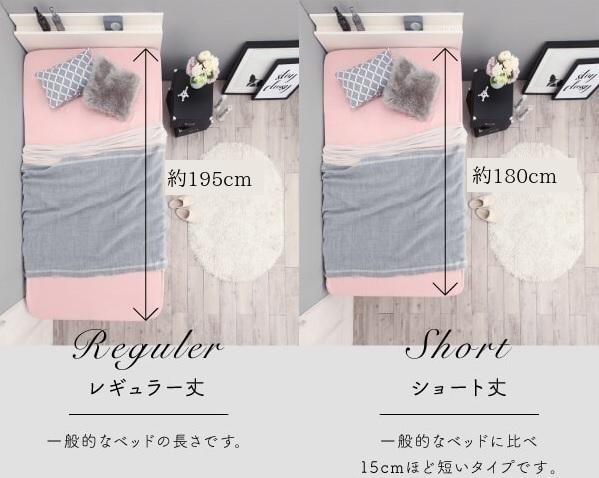 ショート丈ベッドと通常丈ベッドの比較
