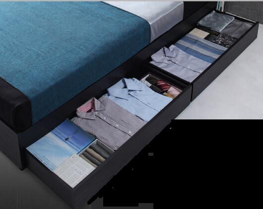1段チェスト収納ベッド