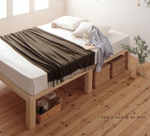 レッグタイプのベッドのベッド下