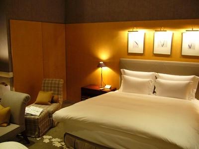 ラグジュアリーなホテルの部屋
