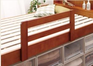 高さが調整できる大容量収納ベッド『大容量収納できる4段階高さ調節天然木すのこベッド【lahairu】ラハイル』