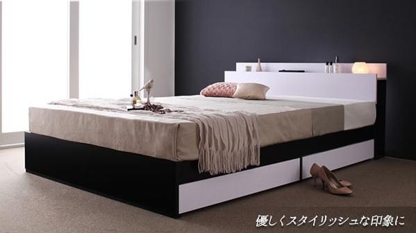 収納ベッドシングル通販 スタイリッシュ収納ベッド