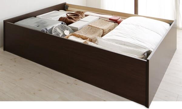 収納ベッド通販 シンプル収納ベッド『日本製・布団が収納できる大容量収納畳ベッド【悠華】ユハナ』
