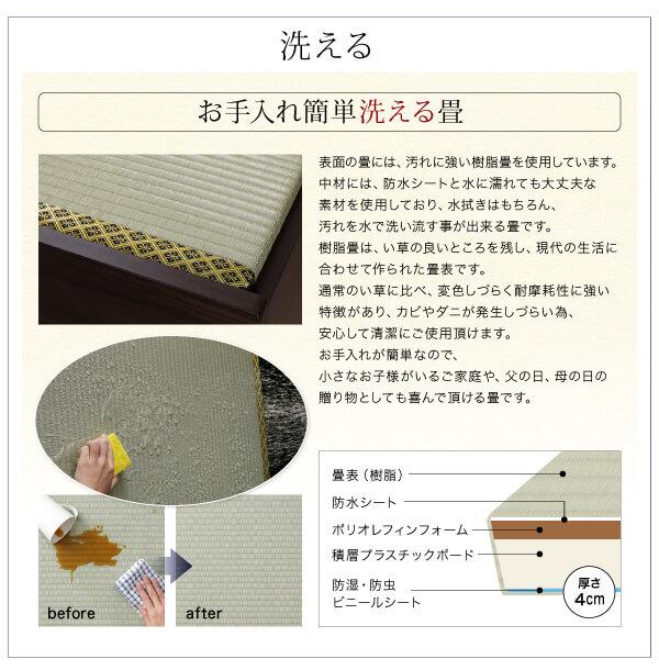 収納ベッドシングル通販 樹脂畳