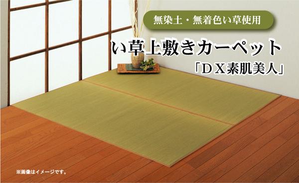 ひんやりラグマット通販 外国産ラグ ウレタンなし『無染土 い草上敷 「DX素肌美人」』