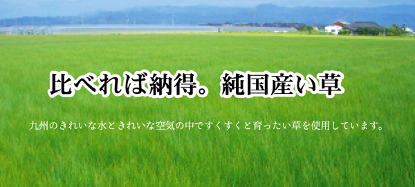 国産い草の説明