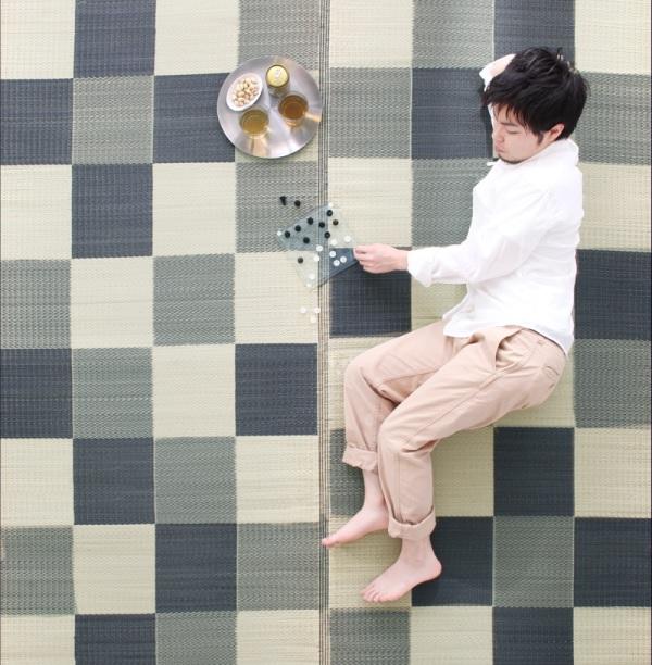 畳の感覚を味わえる大きいラグ『ウレタン付きが選べる国産い草ラグ【casule】カジュール』