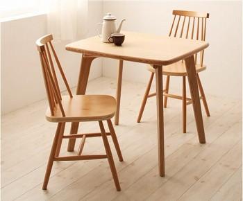 ダイニングテーブル通販 2人用があるダイニングテーブル『天然木ウィンザーチェアダイニング【Cocon】ココン』