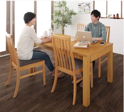 ダイニングテーブル通販『暮らしに合わせて使える 3段階伸縮ハイバックチェアダイニング【Costa】コスタ』通常