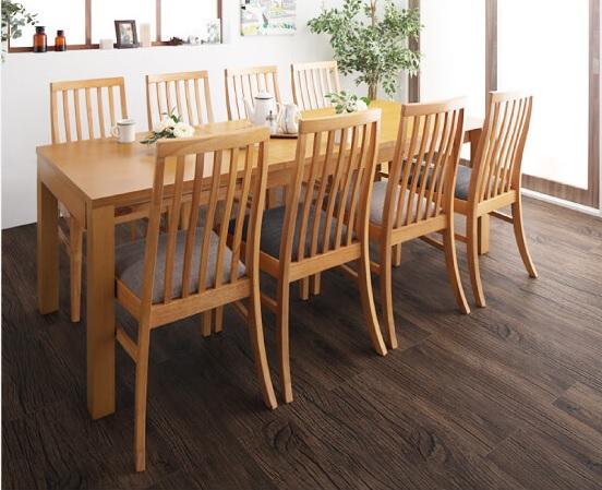 テーブルがフラットになる伸縮の8人用ダイニングテーブル『暮らしに合わせて使える 3段階伸縮ハイバックチェアダイニング【Costa】コスタ』