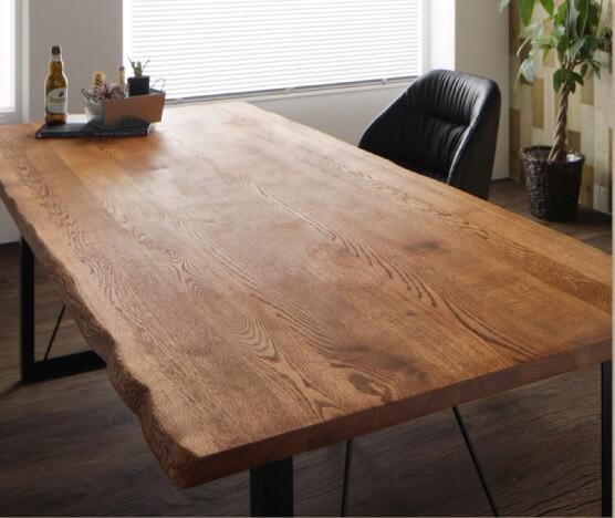 新婚さんにおススメの無垢のダイニングテーブル『アメリカンオーク無垢材ヴィンテージデザインダイニング【Pittsburgh】ピッツバーグ』