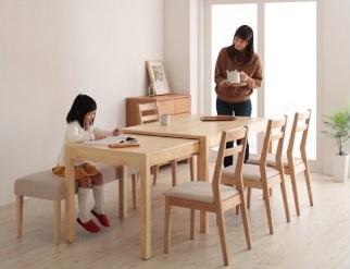 夫婦とお子さんの会話が弾む、勉強しやすいダイニングセット『スライド伸縮テーブル ダイニングセット【Torres】トーレス』