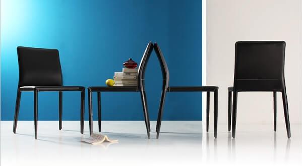 クロスステッチがおしゃれなダイニングテーブル『クロスステッチレザーガラスダイニング【VALLONE】ヴァローネ』
