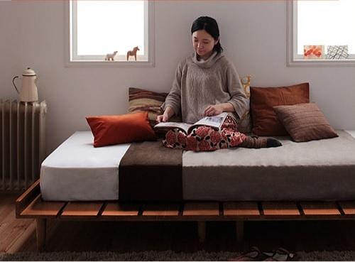 収納ベッドシングル通販 姫系ベッド『北欧デザインベッド【Kaleva】カレヴァ』
