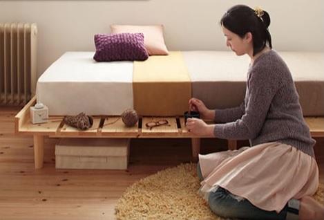 収納ベッドシングル通販 姫系ベッド『北欧デザインベッド【Noora】ノーラ』