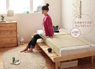 比較的高価なショート丈ベッド『ショート丈北欧デザインベッド【Pieni】ピエニ』