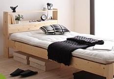 布団が敷けるベッド『北欧デザインコンセント付きすのこベッド【Stogen】ストーゲン』