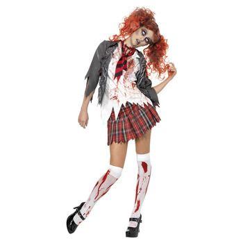 怖いハロウィン  仮装屋 通販 スプラッター衣装『【コスプレ】High School Horror Zombie Schoolgirl Costume S 大人用 S』
