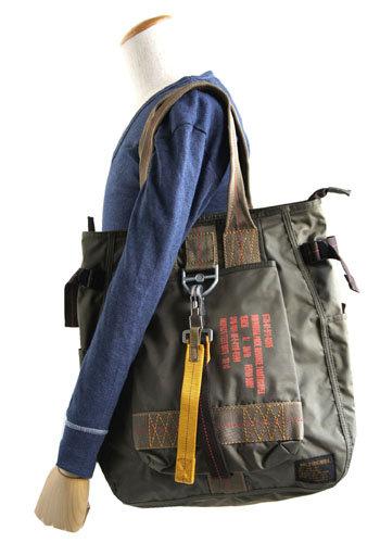 「丈夫なトートバッグ」 フライングボディーパラシュートトートバック BH048YN オリーブ