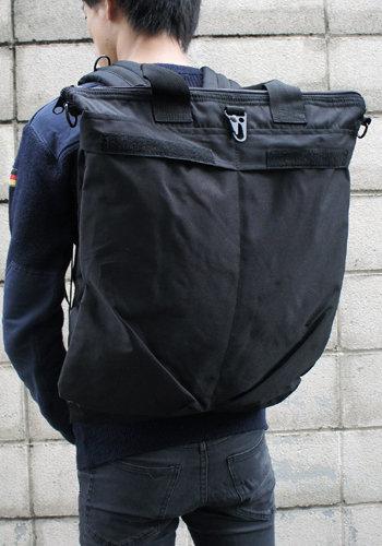 「丈夫なバッグ」U.S.タイプリュック・ショルダー・手提げ3WAYヘルメットバック BH063YN ブラック 【レプリカ】