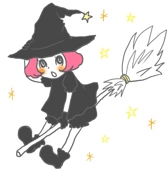ハロウィン 魔法使いのイラスト