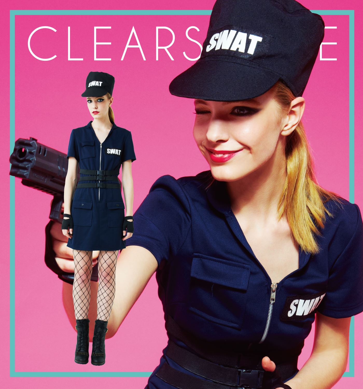 カワイイハロウィン 仮装屋 通販 アメリカンポリスコスチューム『【ハロウィンコスプレ】SWAT Ladies』