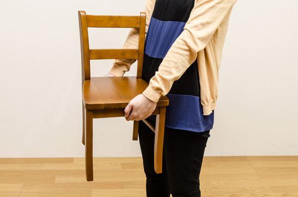 キッズ家具(キッズファニチャー)『【Karin】カリン 天然木キッズチェアー』